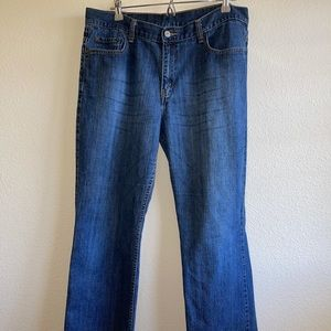 Levi's Blue Denim Bootcut Jeans
